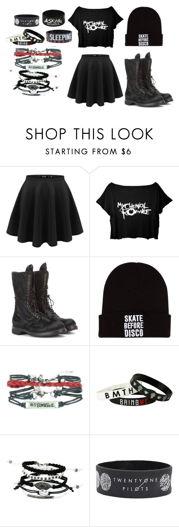 """Concert Ready"" by galacticsenpai ❤ liked on Polyvore featuring Rick Owens, emo and hottopic"