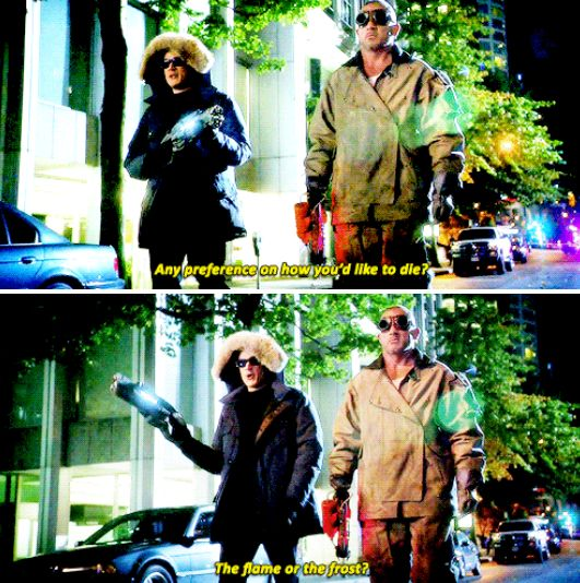 """""""The flame or the frost?"""" - Cap. Cold and Heat Wave #TheFlash"""