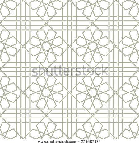 Декоративный рисунок.  Арабский бесшовные модели.  Задний план.  Вектор - Векторный