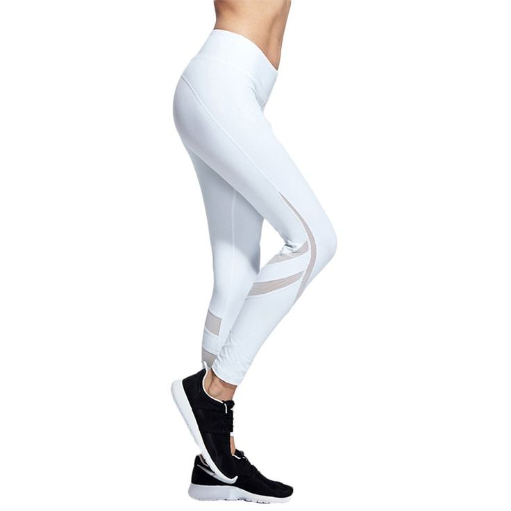 White S Women Activewear Mesh Net Yarn Splicing Trousers Workout Yoga Leggings Gym Running Long Pants Training Tights. Made of 90% polyester and 10% polyurethane, breathable, elastic, soft and smooth. Full length, net yarn splicing,translucence design made you sexy and sparky. This activewear is suitable for running, yoga, workout, training, gym and other sports. The items in the packing and shipping process may produce some folds,the wearing effect will be better after ironing. Please…