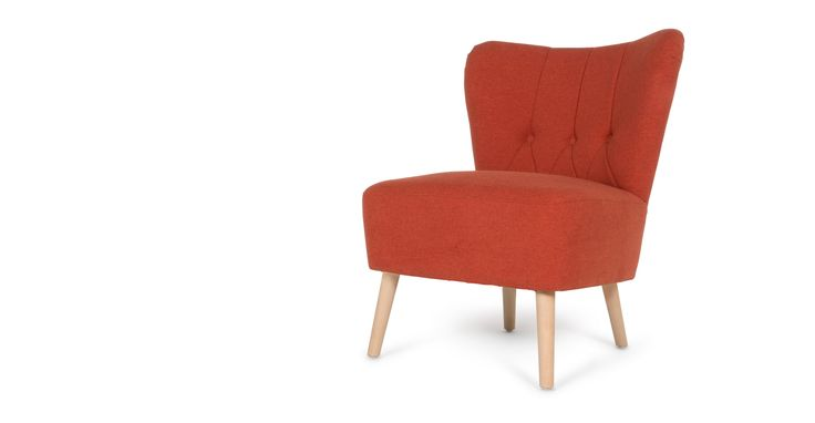 Charley fauteuil, retro oranje