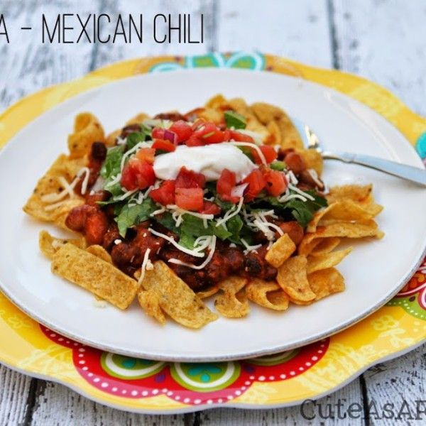 Today's recipe has many different names, all depending on who you ask. My Mother-in-law grew up in Mexico and she gave me her recipe for chalupa. Let me describe it for you. Chalupa is ground beef and pinto beans in a red sauce served over corn chips with your favorite taco fixings. I sometimes...