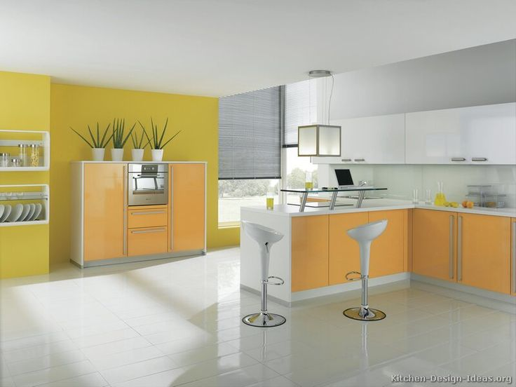 72 Best Orange Kitchens Images On Pinterest Kitchen