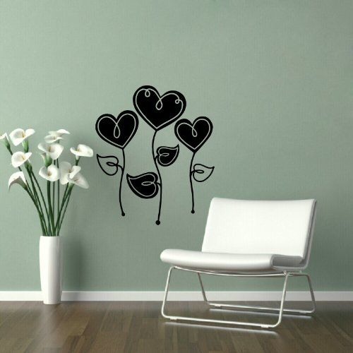 Housewares Wall Vinyl Decal Heart Flower Love Home Art Decor Kids Nursery  Removable Stylish Sticker Mural