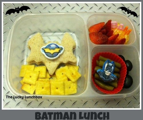 Superheroes week Batman lunch/ The Lucky Lunchbox 01-17-14