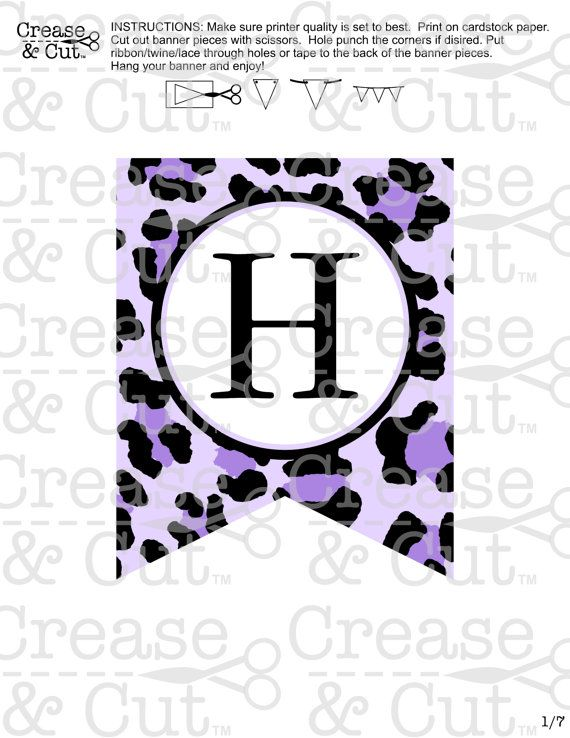 Purple Leopard Print Cheetah Print Birthday Party Decoration