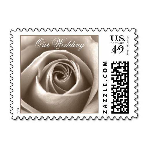 Cream Rose Wedding Invitation Postage Pinterest Wedding Postage