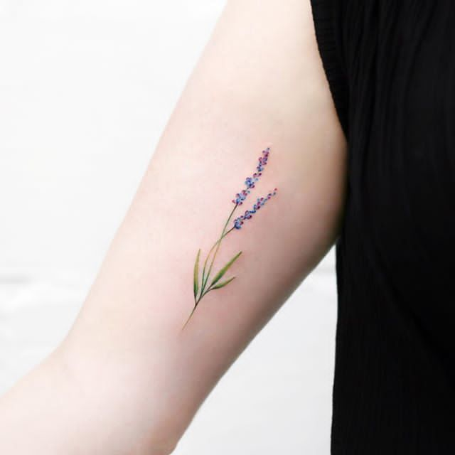 Small Lavender Tattoo On Hand Lavender Tattoo Tattoos For Women Hand Tattoos