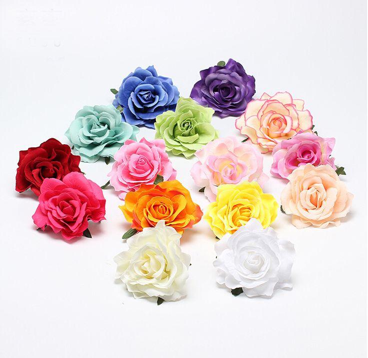 Nieuwe Massaal Doek Rood Rose Bloem Haar Clip Haarspeld DIY Hoofdtooi Haaraccessoires Voor Bridal Wedding 11 kleuren Gratis Verzending