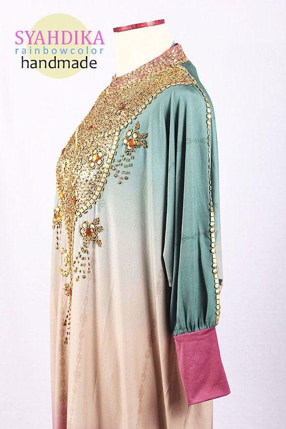 Rainbow Color Spandex Elastic Full Sequin Beads Gold by syahdika