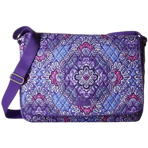 Vera Bradley Laptop Messenger (Lilac Tapestry) Messenger Bags (115 CAD) via Polyvore featuring bags, messenger bags, flap messenger bag, quilted bags, vera bradley bags, cotton bags et quilted laptop bag