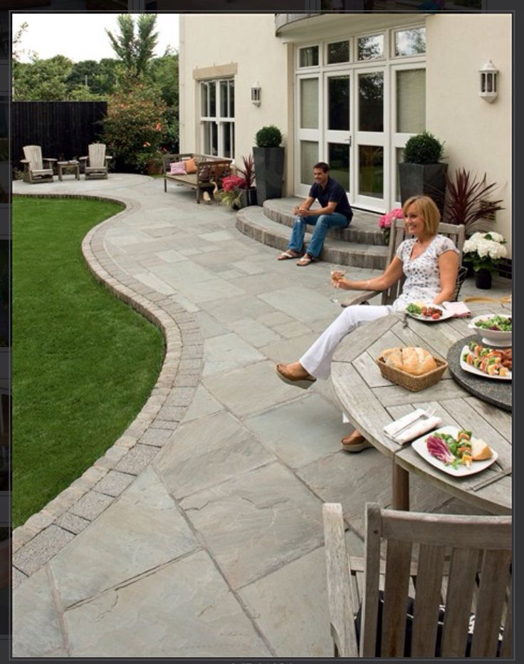 Houzz Com Patio Garden Design Backyard Landscaping Designs Curved Patio