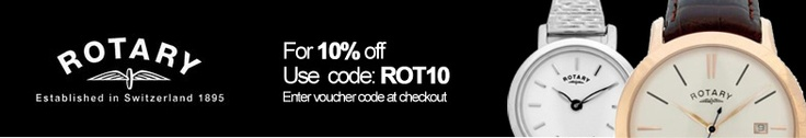 10% off Rotary Watches using Discount Code: ROT10 at the checkout.