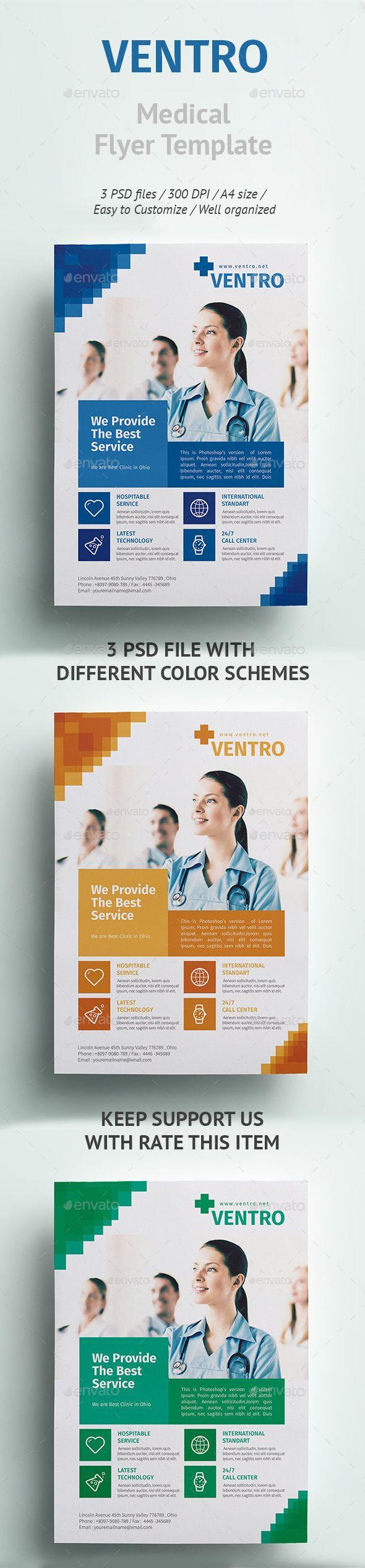 best images about flyer design psd flyer ventro medical flyer template