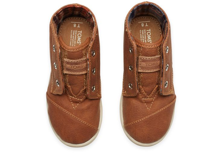 Brown Synthetic Tiny TOMS Paseo-Mids | TOMS