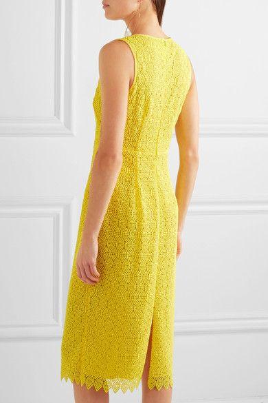 Diane von Furstenberg - Crocheted Lace Midi Dress - Yellow - US12