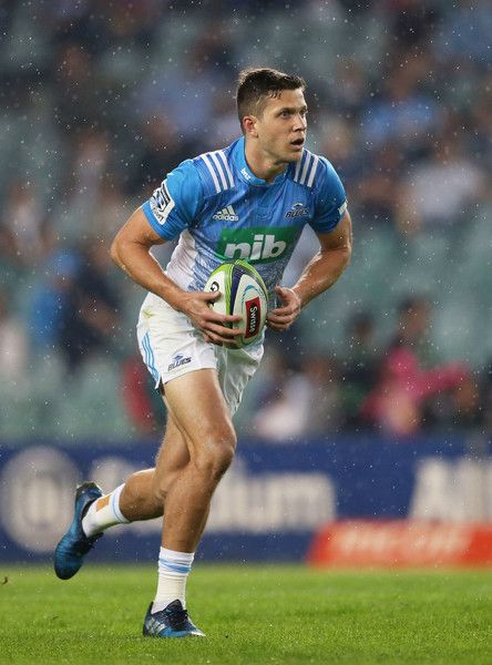 Matt Duffie Photos Photos - Matt Duffie of the Blues runs with the ball during the round 11 Super Rugby match between the Waratahs and the Blues at Allianz Stadium on May 6, 2017 in Sydney, Australia. - Super Rugby Rd 11 - Waratahs v Blues