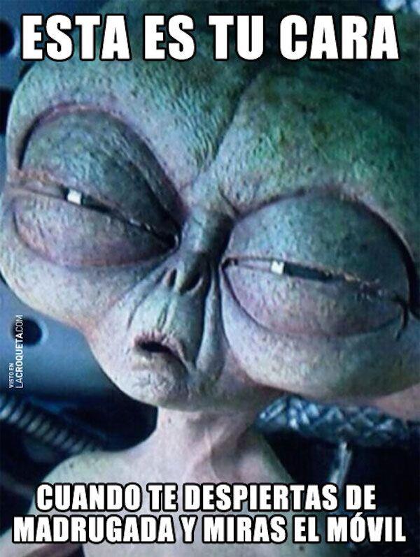 Esta es tu cara cuando te despiertas de madrugada y miras el móvil