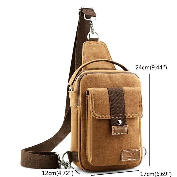 Casual Bag Messenger Bag Shoulder Bag Canvas Small Backpack Sports Bag For Men