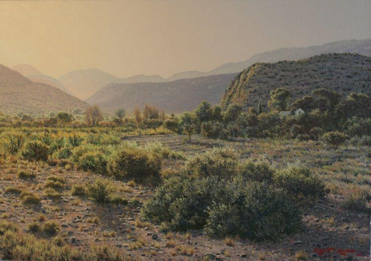 Karoo afternoon  Oil on canvas  by Robert Koch Art
