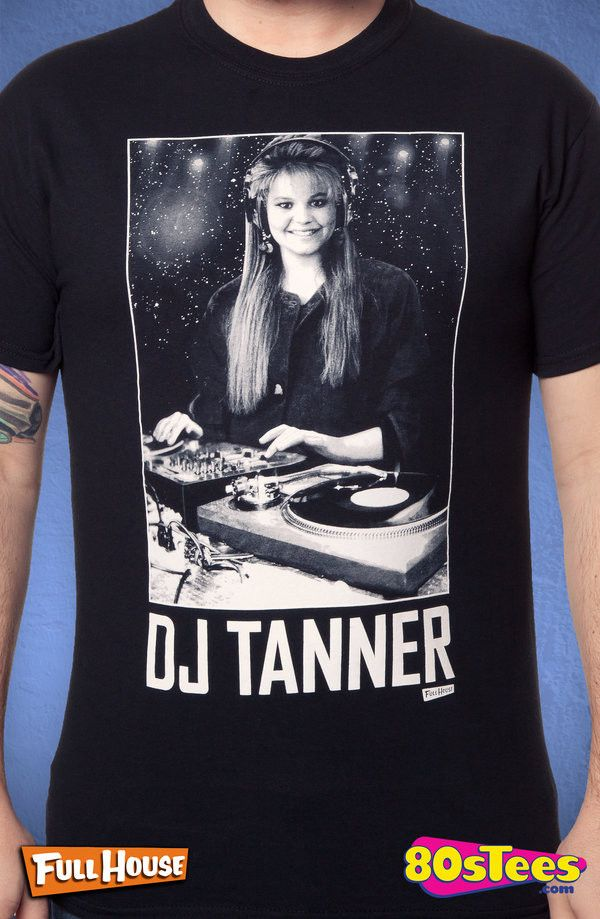 Full House DJ Tanner T-Shirt: Full House Mens T-Shirt Designed with everyone in mind, kids and parents alike enjoyed both the love and humor this popular program. Great addition to your men's fashion collection.
