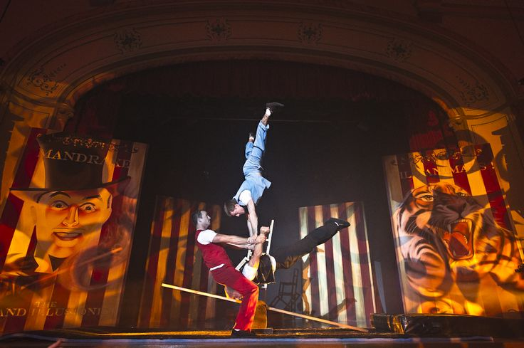 The entertainment at the Hawthorn Arts Centre -Vintage Circus themed launch party 2014 #acrobats #events #venues #Melbourne #function