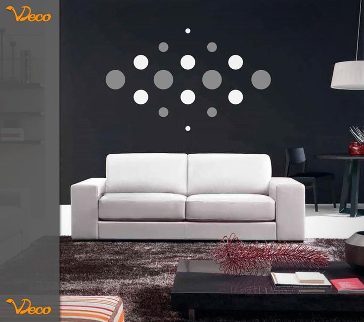 Puntos simetricos. Para pared. Puede colocarse de diferentes formas para generar diseños únicos. Tamaño y colores a elección. Vdeco.