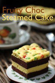 masam manis: FRUITY CHOC STEAMED CAKE