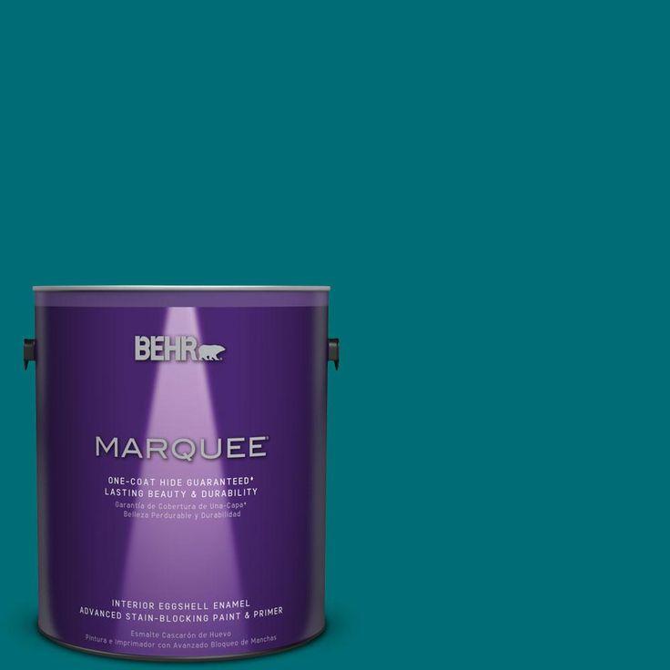 BEHR MARQUEE 1 Gal. #MQ6 35 Teal Motif One Coat Hide Eggshell Enamel  Interior Paint
