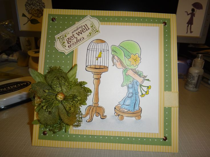 [Whimsy Stamps - Li'l Sweet Tweeter] - Get Well card