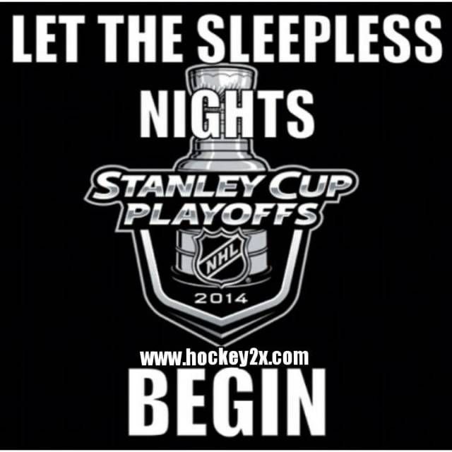 Let the sleepless nights begin.  not completely true since My favorite team is a minor league team and has playoff earlier but I can relate