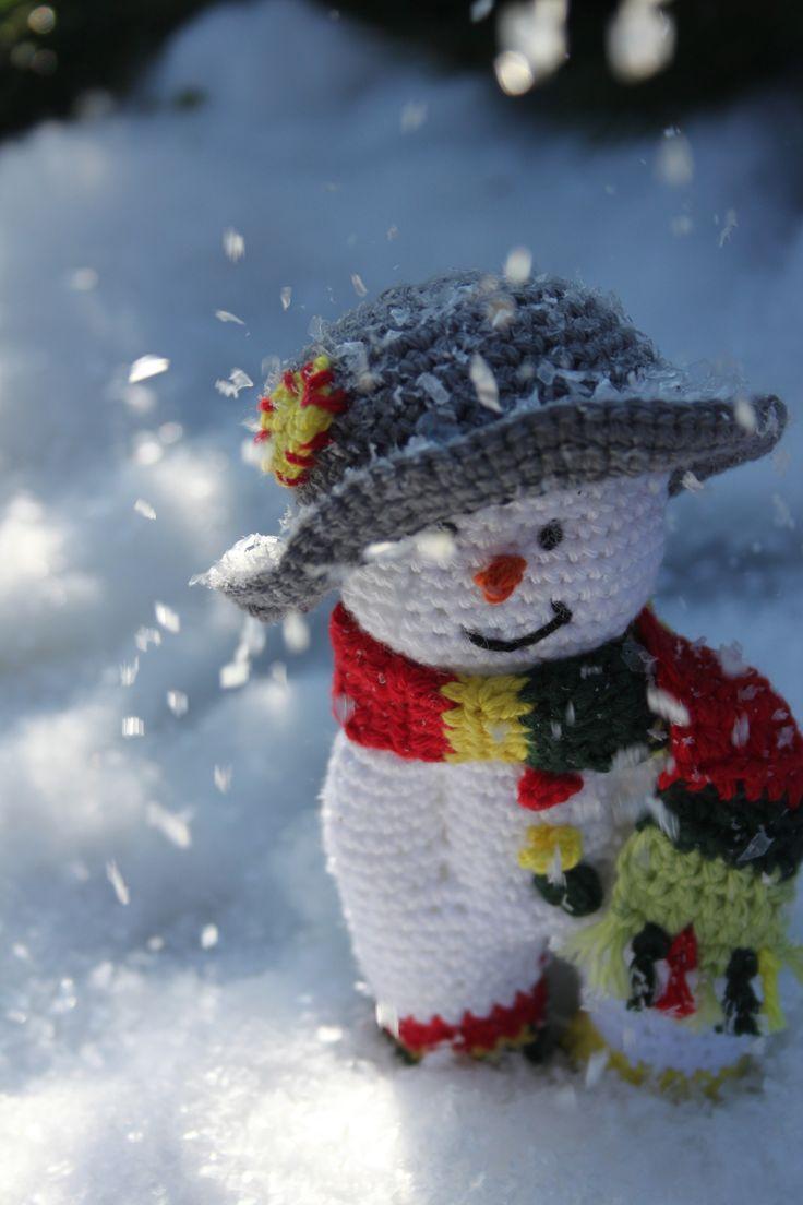 Snowman uit Inhaken op de Feestdagen. Haakpatroon sneeuwmannetjes