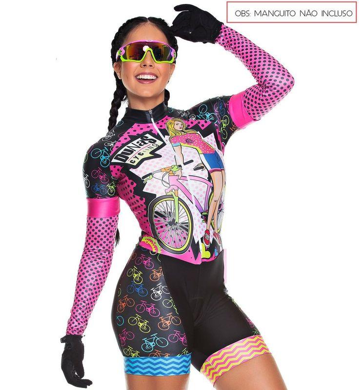 Macaquinho Feminino Bike Preto Dunas Cycling