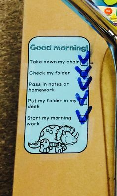 Checklists to help students with daily routines and organization!