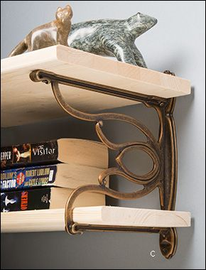 Double Shelf Bracket - Hardware