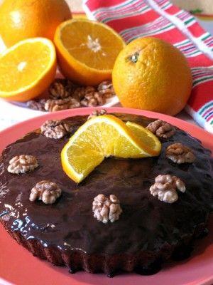 Постный пирог с апельсинами.