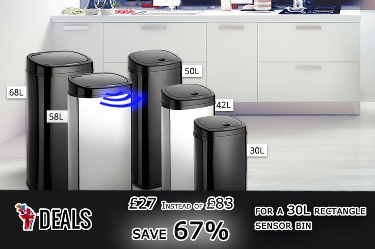 From £27 instead of £83 (from Dihl) for a 30L rectangle sensor bin, £32 for a 40L, £35 for a 50L, £39 for a 58L, or £42 for a 68L - choose from two colours and #save up to 67% http://www.grabdeals.today/uk-en/deal_detail/78358