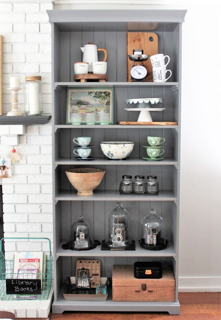 littlenestdesign.com | Ikea Bookcases for the win! Bookcases instead of built-ins