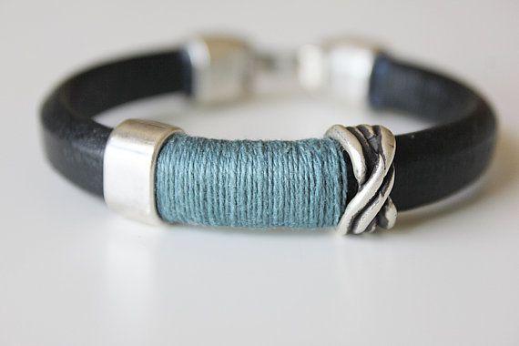 MEN LEATHER BRACELET. Homens pulseira. Bracelet. by kalmabisuteria