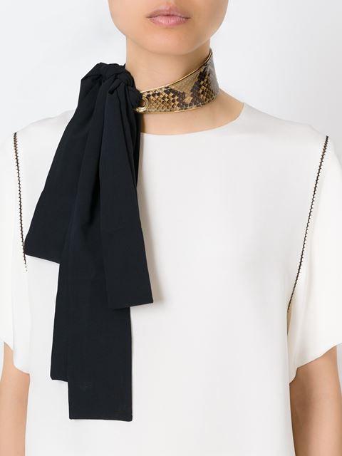 змеиной эффект шарф ожерелье