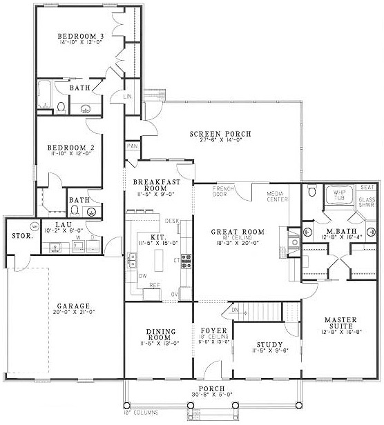 96 best house plans images on pinterest house blueprints for Half bath floor plans