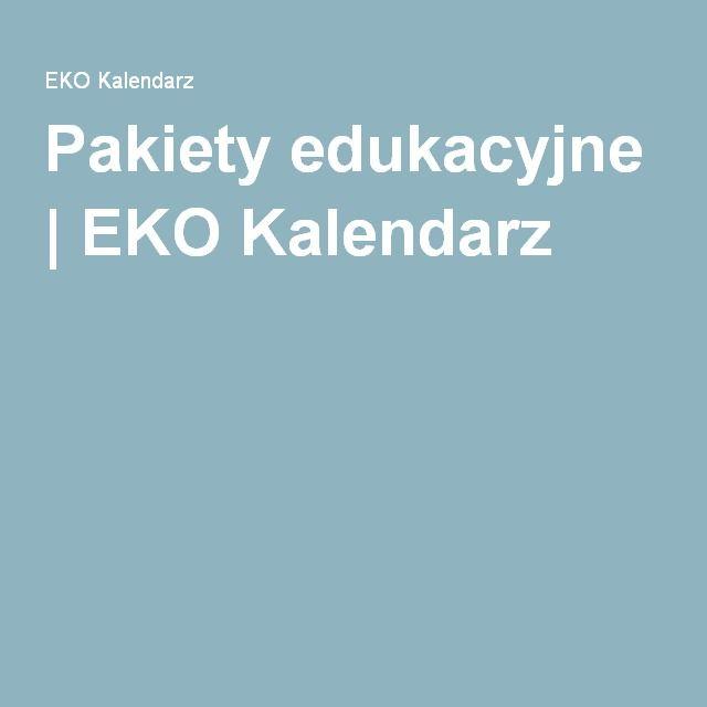 Pakiety edukacyjne | EKO Kalendarz
