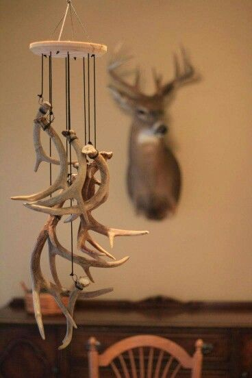 Antler wind-chime