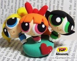 Como fazer Meninas Super Poderosas de Biscuit :http://topartesanato.com/meninas-super-poderosas-de-biscuit/