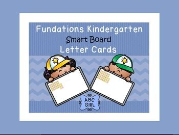 This SMART Board interactive notebook file contains 5 pages of letter card displays to correlate with the 5 units in the Fundations Kindergarten program.  Each letter card will clone as you select and move it.