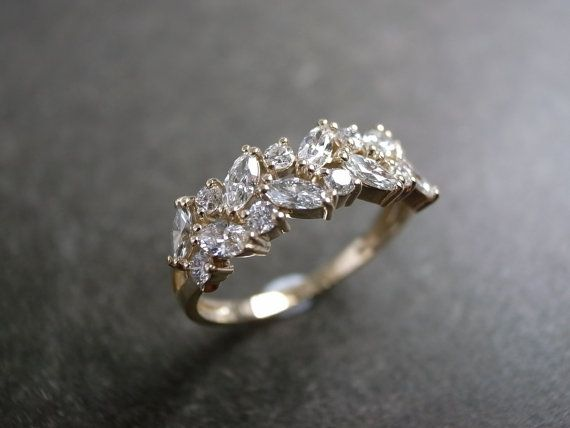Marquise Wedding Ring / Engagement Ring / by honngaijewelry