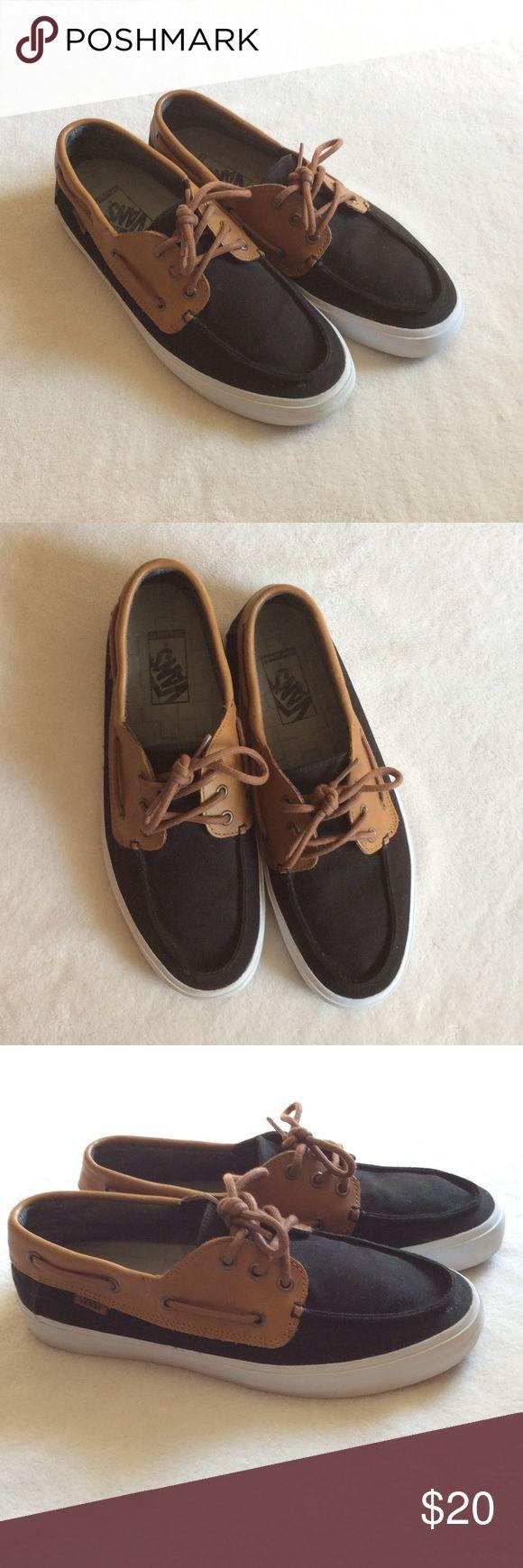 Vans boat shoes Vans canvas boat shoes. Colors are black and brown. Vans Shoes Boat Shoes