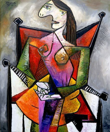 Pablo Picasso - Diva in a Red Chair