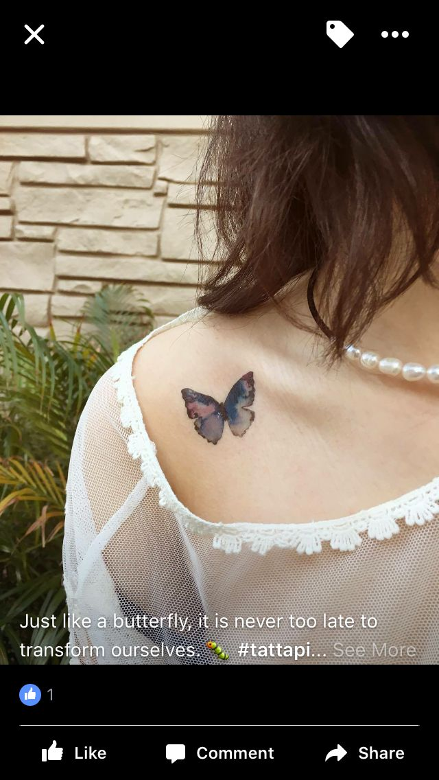 Small butterfly love collar bone placement