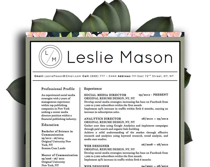 14 best Leslie Mason Beautiful Resume Cv Template images on - landscape architect resume